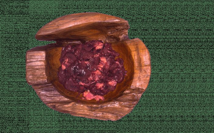 Niere vom Rind geschnitten
