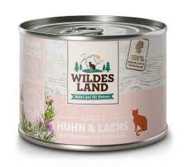 Wildes Land - Huhn & Lachs für Katzen gegart 6 x 200g