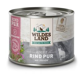 Rind PUR von Wildes Land für Katzen 6 x 200g