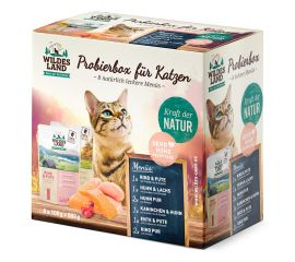 Wildes Land - Probierbox für Katzen gegart 8 x 100g